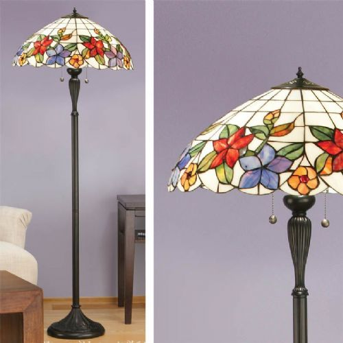 Country Border Floor Lamp (Nature, Traditional, Floor Lamp) TV152F (Tiffany style)